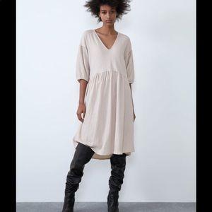 Zara NEW voluminous textured weave dress